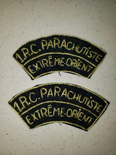 K1051 Indochina France French Army 1RC Tabs 1 Reg Colonial Paratroopers L3BReproductions - 156472