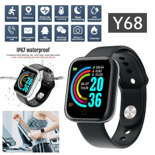 Montre Connectée Smartwatch Caméra GSM Sport Bluetooth Android IOS Y68 Neuf FR