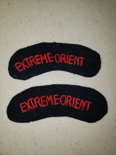 K1109 Indochina France French Army Tabs Extreme Orient L3CReproductions - 156472