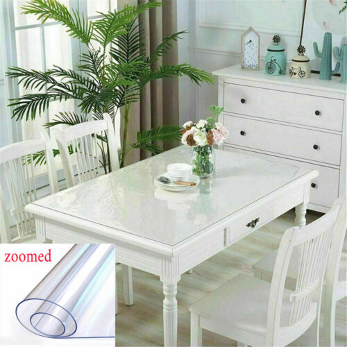 All Sizes PVC Tablecloth Protector Table Cover Dining Table Cover Plastic Au