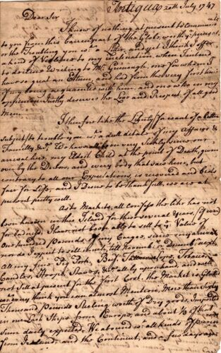 1747, Antigua, merchant Samuel Hawkes, great letter, trade, devil on island