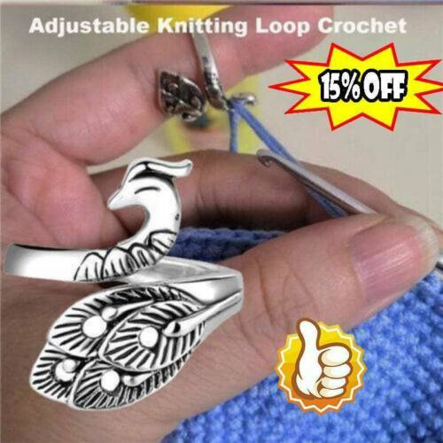 Adjustable Knitting Loops Crochet Loop Knitting Accessorie Ring 2020 Y2m9