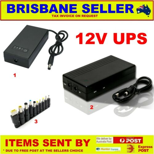 12v UPS 2A NBN PHONES MODEMS ROUTER EFTPOS CCTV LITHIUM RECHARGEABLE BATTERY