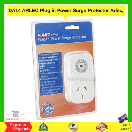 ARLEC Plug In Power Surge Protector   BRAND NEW   FAST AND FREE SHIPPING AU