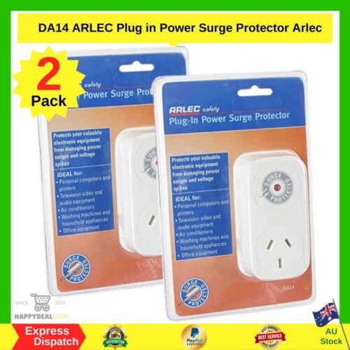 2x ARLEC Plug In Power Surge Protector | BRAND NEW | FAST AND FREE SHIPPING AU
