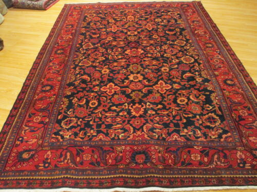 ESTATE CA 1950 8x11 MUSEUM ALLOVER-PATTERN HANDMADE-KNOTTED WOOL RUG 581352