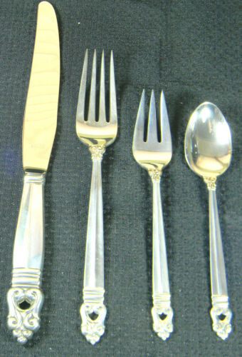 1 GORGEOUS ROYAL DANISH STERLING DINNER SIZE PLACE SET NO MONO POLISHED HAVE 12