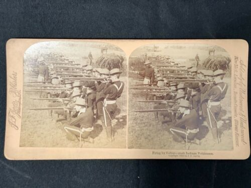 Spanish American War 106th Indiana Infantry 3D stereoview card