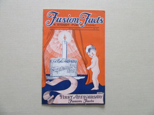 Fusion Facts - Vintage Magazine for Welders - 1st Anniversary Issue, Sept., 1928