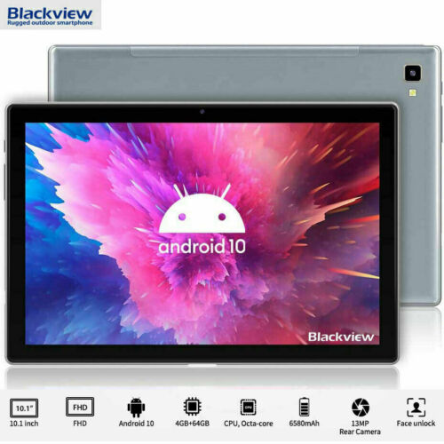 """Blackview Tab 8 Tablet PC 10.1"""" 5G WiFi 4GB+64GB Android 10 6580mAh Octa Core"""