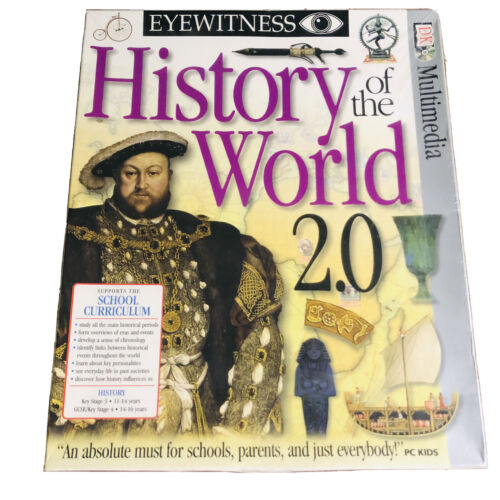 BRAND NEW HIstory of the World 2.0 - PC, 2001 - GSP Eyewitness - Supports School