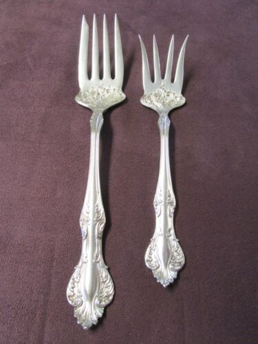 DORIC 1907 Cold Meat and Cold Beef Serving Forks Rogers Silverplate No Monograms