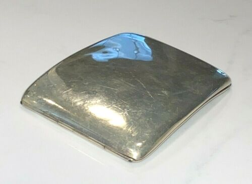 MAPPIN & WEBB 1919 ENGLISH STERLING SILVER GOLDWASH CURVED CIGARETTE CASE