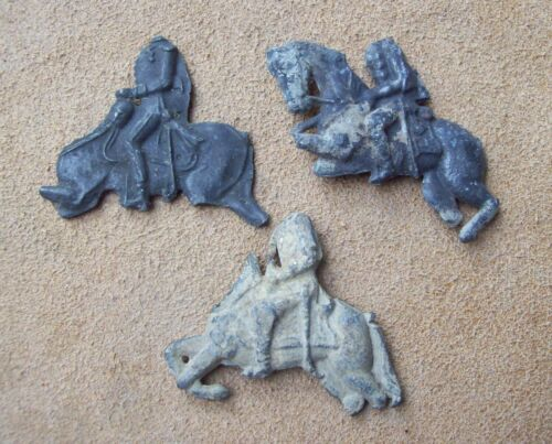 Dug Lot of 3 Pewter Toy Horses 1600's/1800's Metal Detecting Finds
