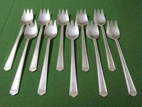 ANNIVERSARY 10 Ice Cream Forks Rogers Silverplate 1923 No Monograms