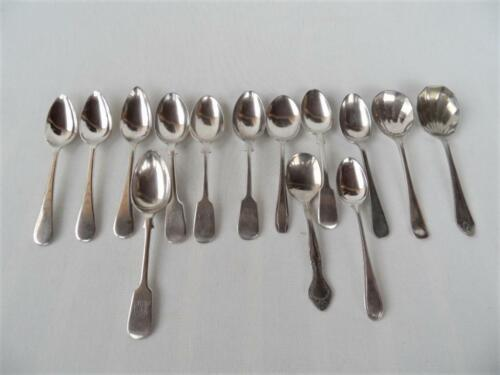Mixed Vintage Lot x 14 Assorted Silver plated Dessert fruit  Spoons & teaspoons