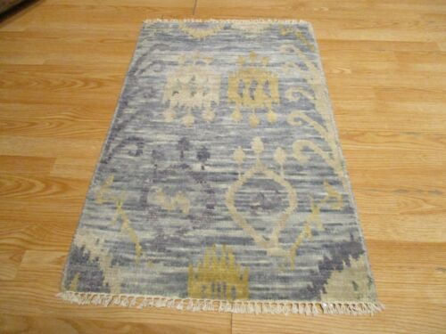 2x3 Modern Agra ABC Collection Vegetable Dye Handmade-knotted Wool Rug #3
