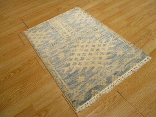 2x3 Modern Agra ABC Collection Vegetable Dye Handmade-knotted Wool Rug #13