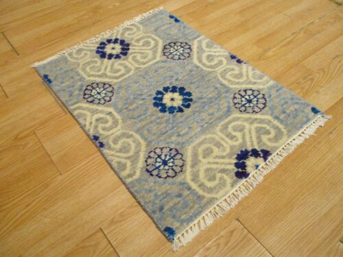 2x3 Modern Agra ABC Collection Vegetable Dye Handmade-knotted Wool Rug #10