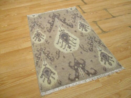 2x3 Modern Agra ABC Collection Vegetable Dye Handmade-knotted Wool Rug #39