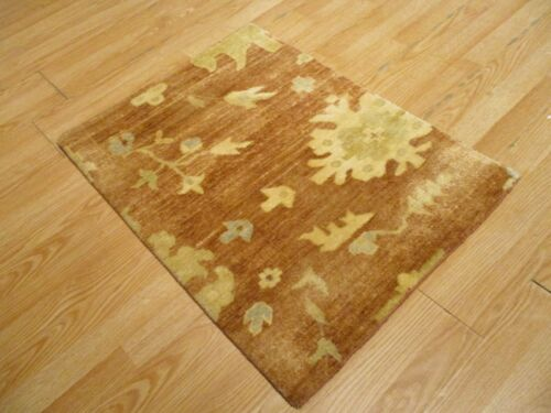 2x3 Modern Agra ABC Collection Vegetable Dye Handmade-knotted Wool Rug #31