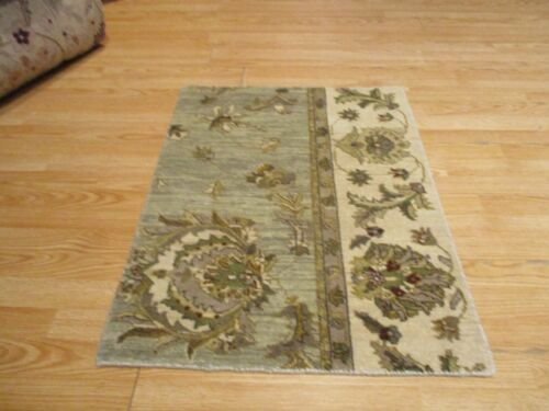 2x3 Modern Agra ABC Collection Vegetable Dye Handmade-knotted Wool Rug #8