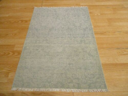 2x3 Modern Agra ABC Collection Vegetable Dye Handmade-knotted Wool Rug #33