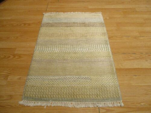 2x3 Modern Agra ABC Collection Vegetable Dye Handmade-knotted Wool Rug #7