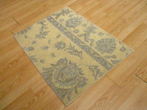 2x3 Modern Agra ABC Collection Vegetable Dye Handmade-knotted Wool Rug #22