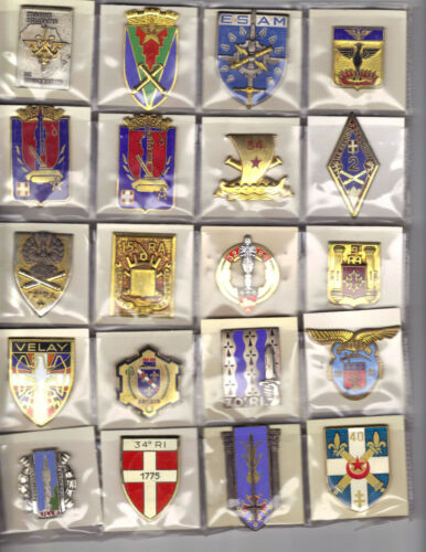 FRENCH BADGES CLOSEOUT SALE! 20 Different, All Genuine, Mostly 1950s-1970sOriginal Period Items - 13982