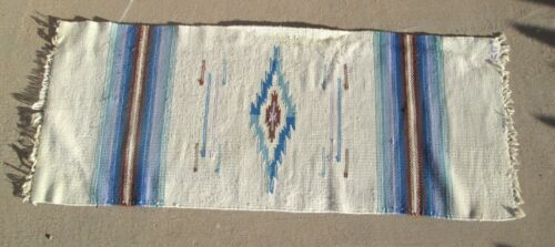 Authentic Ortega's Chimayo New Mexico 100% Wool Hand Woven Weaving Rug 64 inch