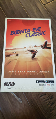 2019 D23 EXPO DISNEY EXCLUSIVE TOPPS STAR WARS BOONTA EVE CLASSIC MOS POSTER