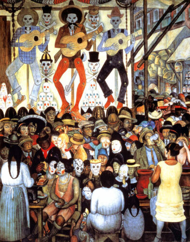 Diego Rivera Day Of The Dead Canvas Print 16 x 20   #5856