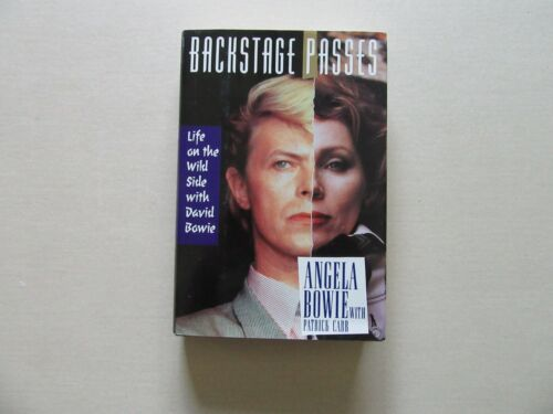 Backstage Passes by Angela Bowie w/ Patrick Carr - 1st Printing, 1993 - Signed
