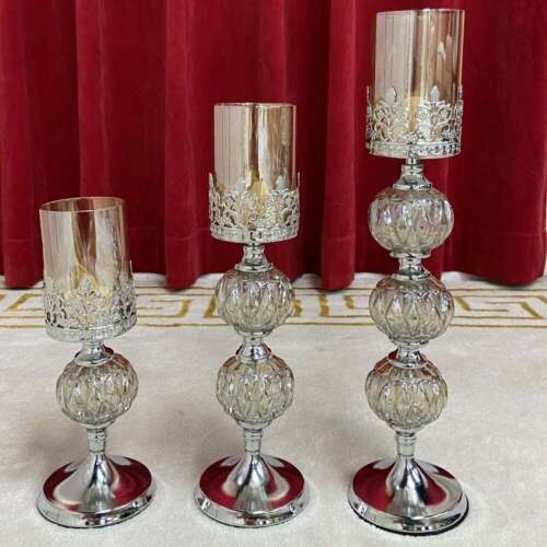 Classy Silver Candlesticks (set of 3)