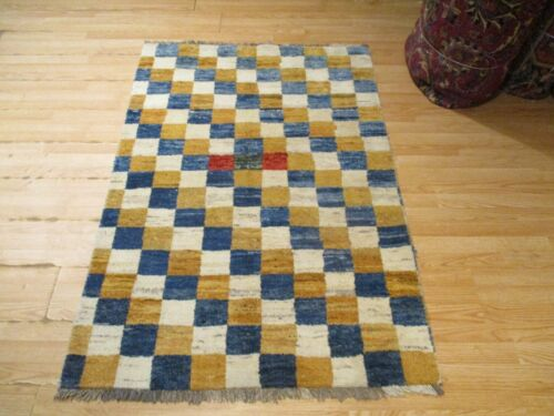 3x5 VERY UNIQUE PERSIAN NOMADIC HANDMADE-KNOTTED WOOL RUG 583234