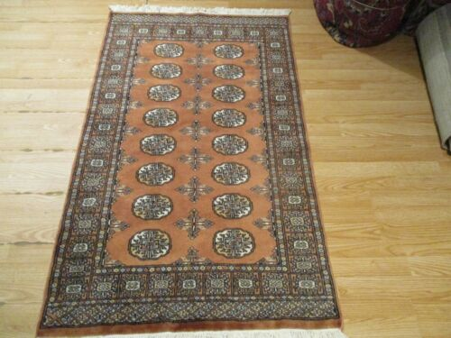 3x5 VERY UNIQUE BUKHARA TRIBAL COLLECTION HANDMADE-KNOTTED WOOL RUG 585923