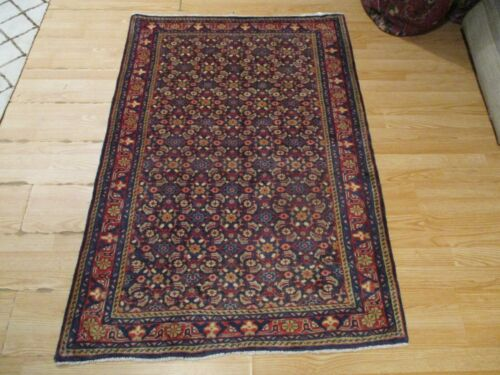 3x5 VERY UNIQUE INTRICATE TRIBAL VEGETABLE DYE HANDMADE-KNOTTED WOOL RUG 583383