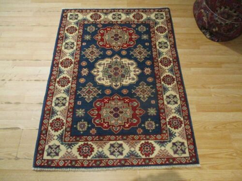 3x5 VERY UNIQUE FINE AFGHAN REFUGEE DESIGN HANDMADE-KNOTTED WOOL RUG 585591