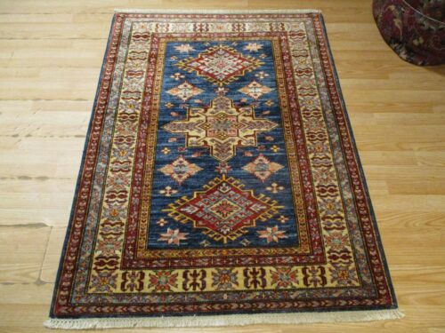 3x5 VERY UNIQUE FINE TRIBAL AFGHAN DESIGN HANDMADE-KNOTTED WOOL RUG 585258