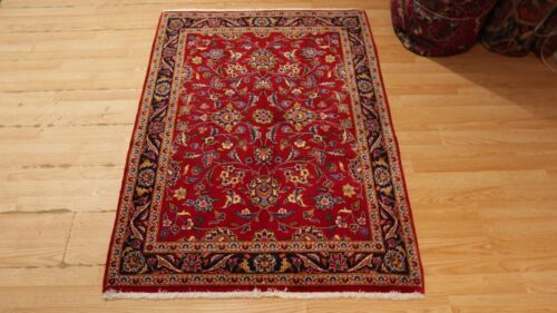 3x5 CA 1970 VERY UNIQUE KASHANN HANDMADE-HAND KNOTTED WOOL RUG 583455