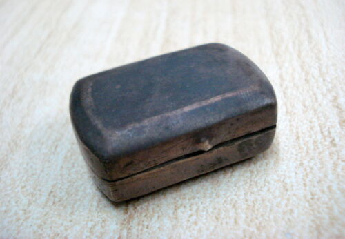 vintage antique old silver box rajasthan India