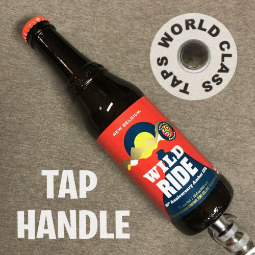 New Belgium WILD RIDE 30th ANNIVERSARY beer TAP HANDLE marker tapper FAT TIRE