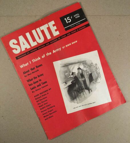 April 1946 First Issue SALUTE MAGAZINE Military WWII Post War Victory Home FrontOriginal Period Items - 13981