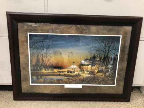 """TERRY REDLIN CUSTOM FRAMED / MATTED """"Welcome to paradise""""   B15"""