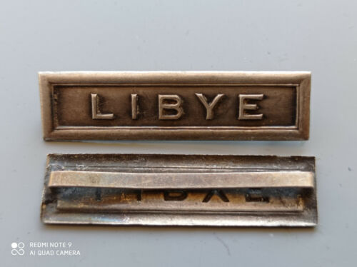 TIR/O) Belle agrafe LIBYE pour médaille coloniale 39/45 WW2 french medal