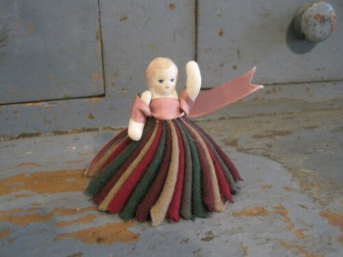 Old Primitive Little Pen Wipe Doll that was Found in New England AAFA