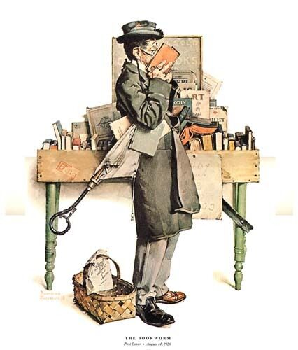 Norman Rockwell Book Reader Print THE BOOKWORM