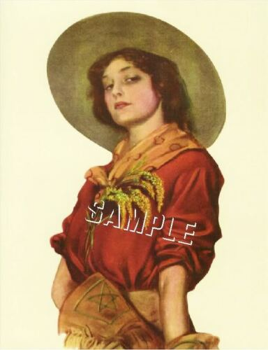 DAUGHTER OF THE WEST VINTAGE WESTERN COWGIRL CANVAS ART