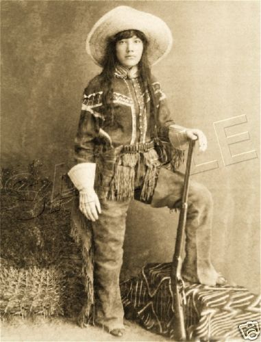 COWGIRL WOMAN INDIAN SCOUT COLT WESTERN CANVAS PHOTO